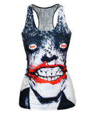 Free Shipping 2016  Summer New Fashion Women T-shirt RIBS 3D Vest Tops Skull Bone Camisole Sexy Tank Top(China (Mainland))