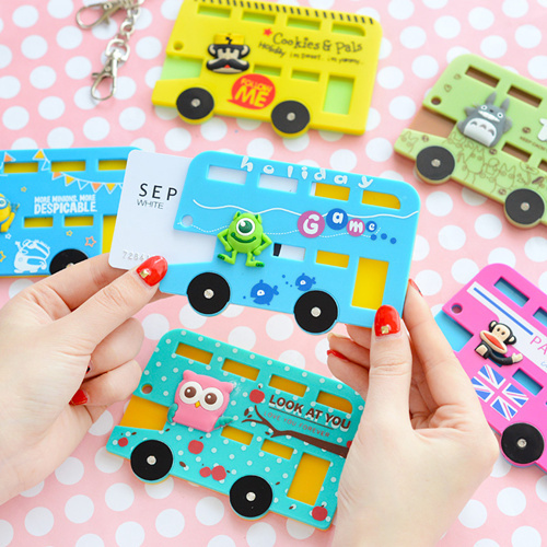 12 pcs/Lot Cute card holder Cartoon Key holders Totoro Minions Rilakkuma bear Panda Key holder Credit case Bag accessories 5510(China (Mainland))