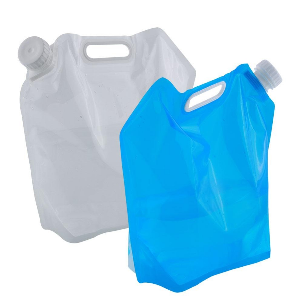 Hot Sale 5L Collapsible Foldable Water Bag Storage Hand Lifting Hiking Survival Bottle(China (Mainland))