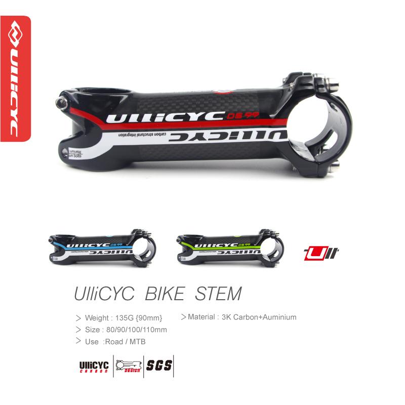 2016 Hot Ullicyc sale aluminum alloy & carbon bicycle stem road bike lightweight MTB stem / carbon stem 31.8 *80/90/100 / 110mm(China (Mainland))