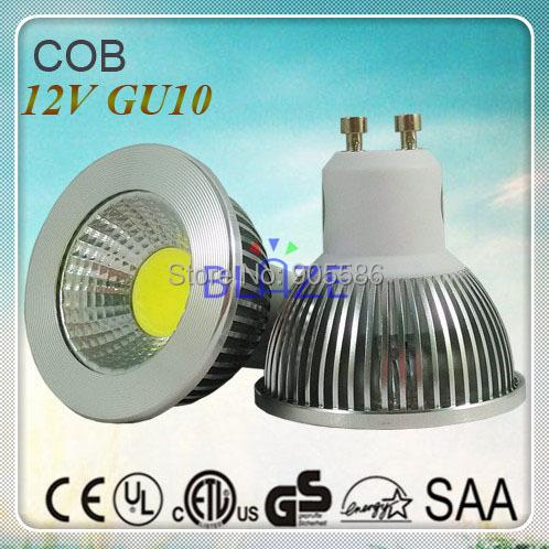 dc 12v gu10 cob led light bulbs ampoule 5w 450lm 3000k. Black Bedroom Furniture Sets. Home Design Ideas