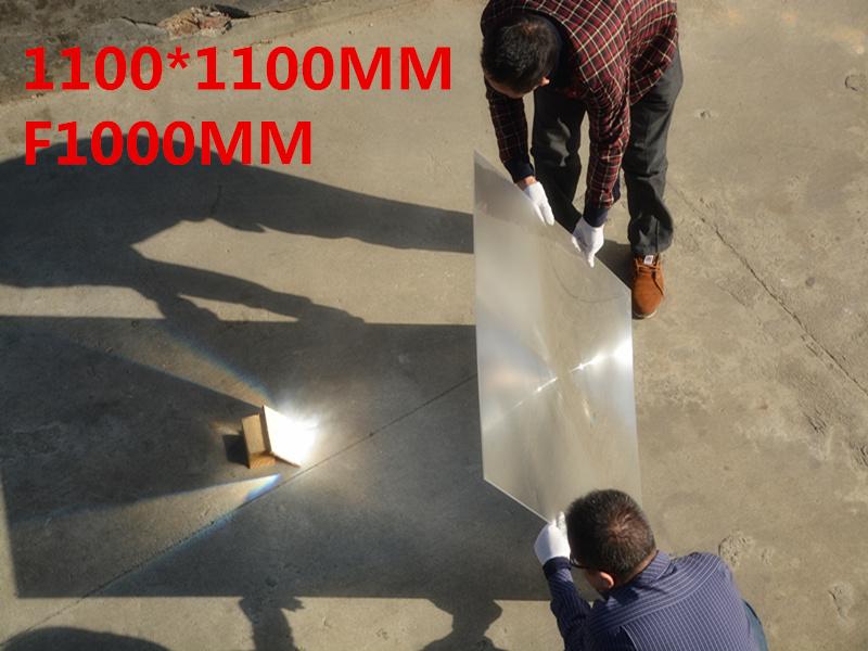 Big Fresnel lens Square Lens 1100*1100 mm Fresnel Lens Focal length 1000mm Temperature can got 1000 Celsius