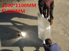 Buy Big Fresnel lens Square Lens 1100*1100 mm Fresnel Lens Focal length 1000mm Temperature can got 1000 Celsius for $402.96 in AliExpress store