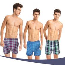 2016 new style summer short pants Classic Plaid Men sleep bottoms mens underwear trunks Mix Color sexy male pajamas size 2XLP362