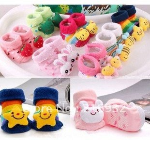 G3 Animal style Baby socks with Three-dimensional(3D) cartoon plush doll