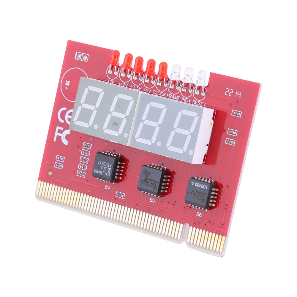 Computer Motherboard LED 4 Digit Analysis Diagnostic Test POST Card PCI PC Analyzer Motherboard<br><br>Aliexpress