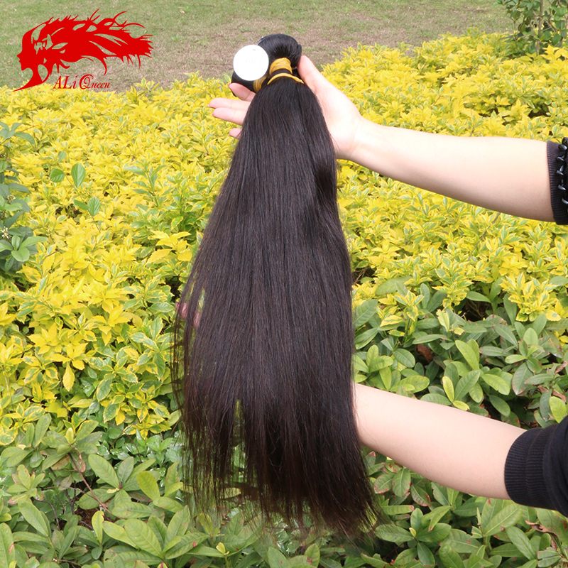 Burmese virgin hair straight 3pcs lot, Unprocessed human hair weave Ali queen hair products burmese straight virgin hair
