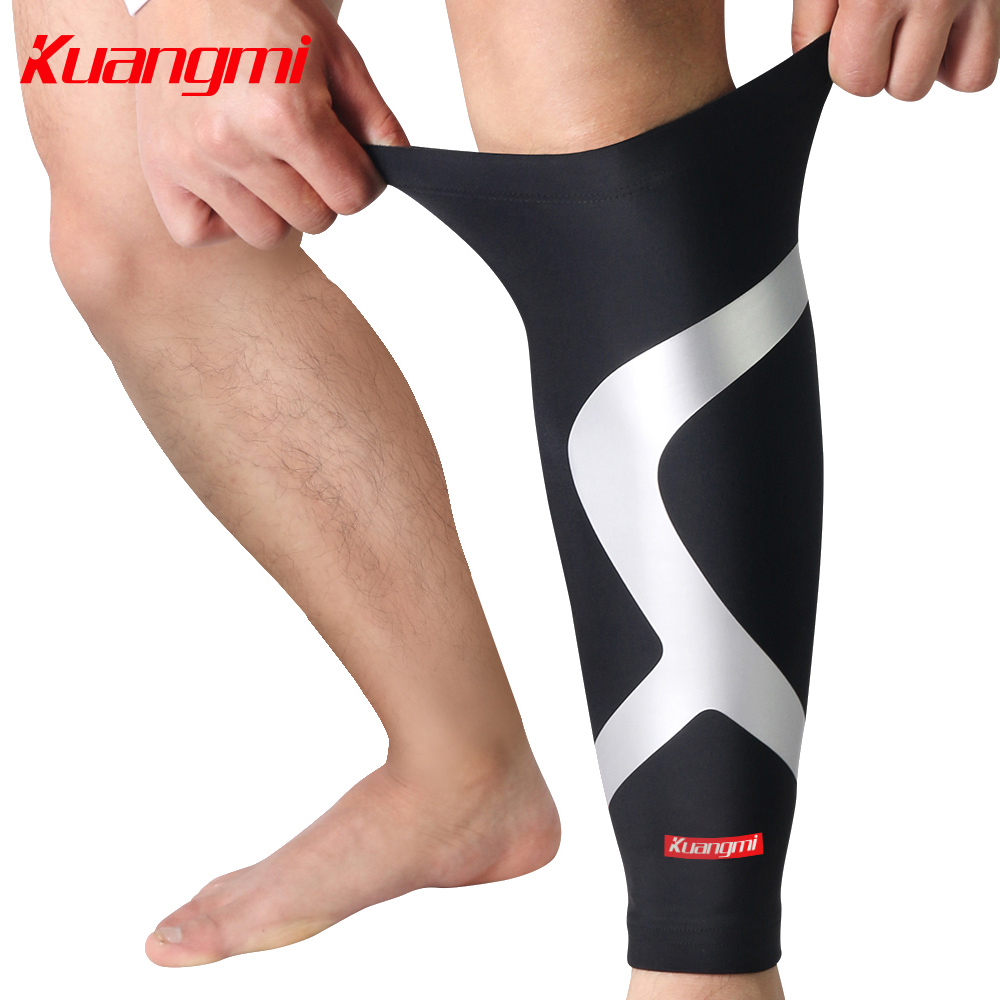 Kuangmi Calf Compression Sleeve Betis Calf Support Calf Warmer Shin Guard Shin Splint Sleeve Leg Protector Cycling Football Sock(China (Mainland))