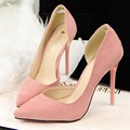 New Brand Fashion Women Flock Pumps Thin High Heel Pumps Shoes For Women Pointed Toe Sexy