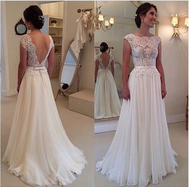 Новое Прибытие 2016 Сшитое Белый Платье Для Свадьбы Потрясающий Жилетidos De Noiva ...