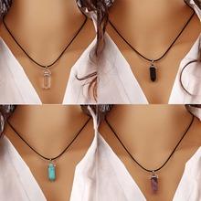 Fashion Multi Color Quartz Necklaces Pendant Necklace Chain Crystal Stone Necklace women jewelry accessories