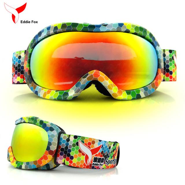 Новые лыжные очки UV400 одного лыжный маска очки лыжи мужчины женщины снег сноуборд очки Анти-запотевания Анти-взрыв лыжные очки