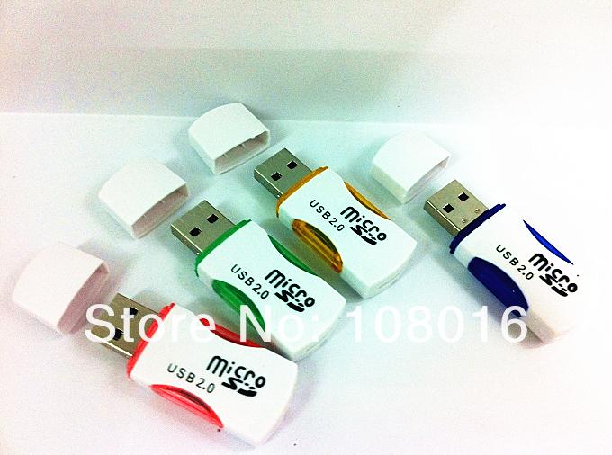 1pcs Free Shipping USB 2.0 Micro SD T-Flash TF Memory Card Reader adapter little panda adapter(China (Mainland))