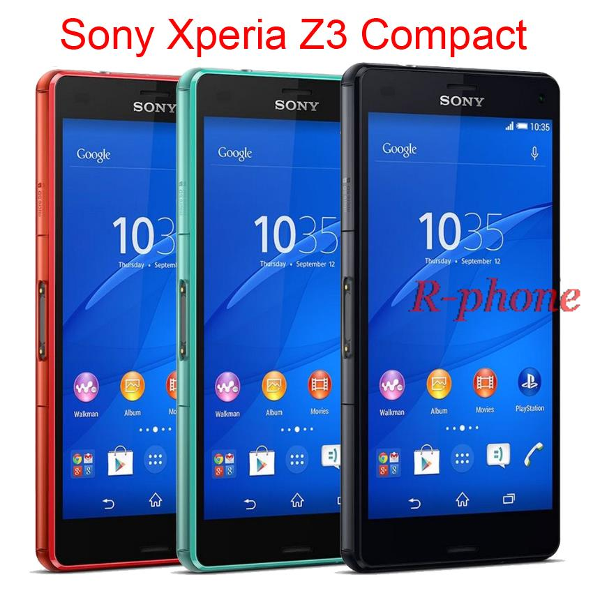 Original Unlocked Sony Xperia Z3 Compact 3G 4G Wifi GSM 20.7MP 4.6 inch Quad core 16GB Cell phones Refurbished(China (Mainland))