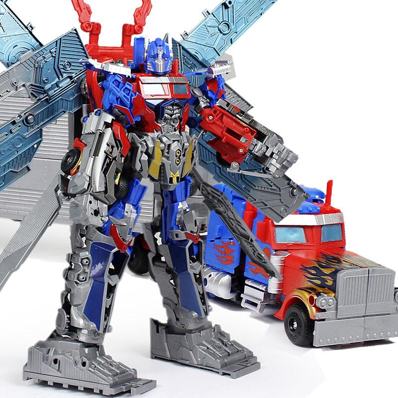 2015 53CM Original Box XL Size Transformation Toy Kids Robot Optimus Prime Ultimate Autobots Car Anime Action Figure Class Toys
