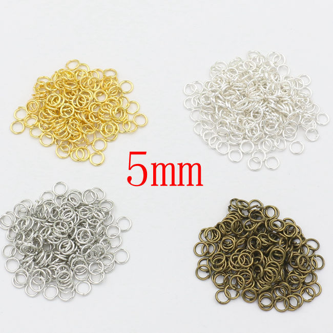1000pcs Antique Bronze/Gold Silver Jump Rings Split Rings Jewelry Findings Jewelry Accessories DIY 5mm(China (Mainland))