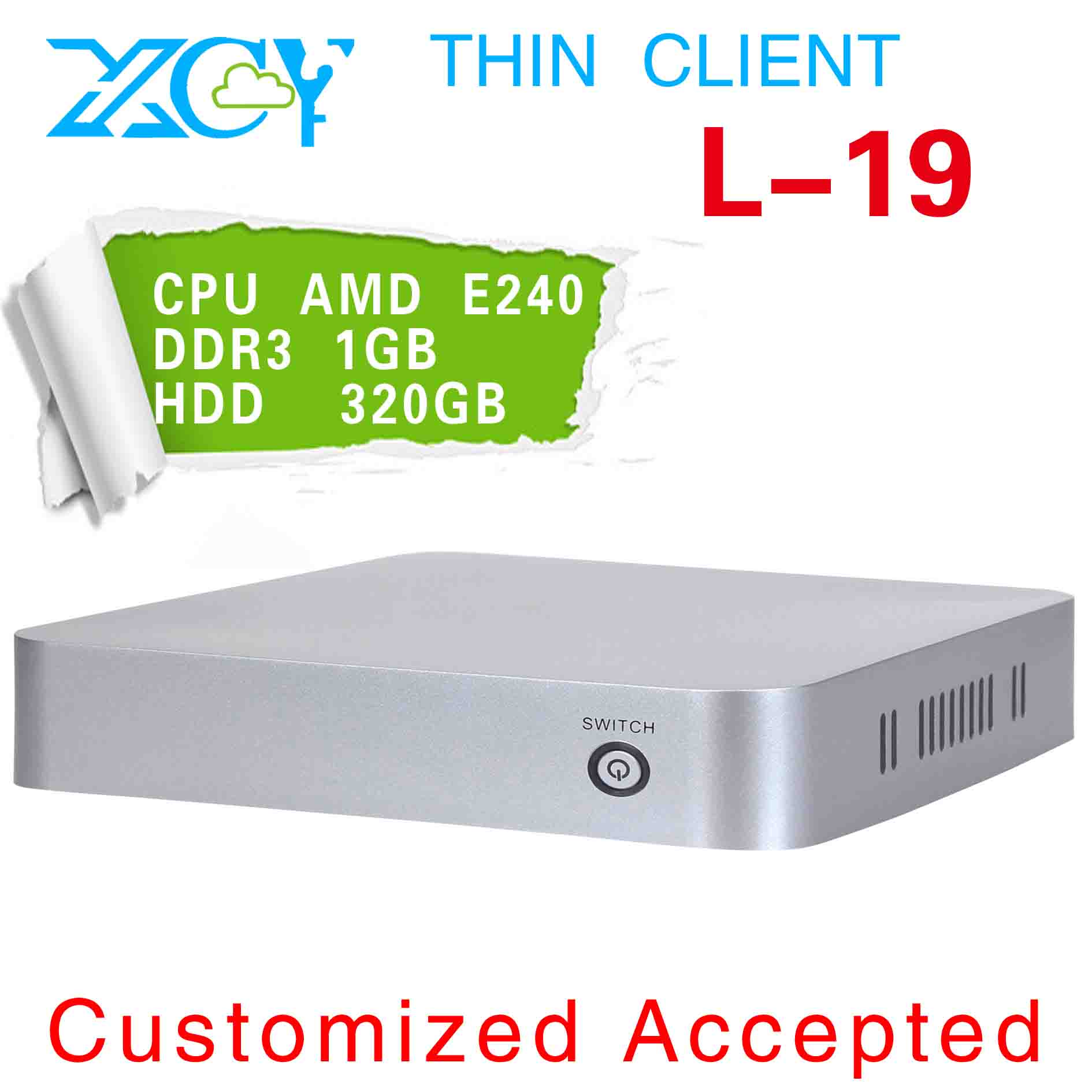 Promotional price !!! Various Colors!!! pc station linux wireless thin client XCY L-19 Realtek ALC6662 audio frequency(China (Mainland))