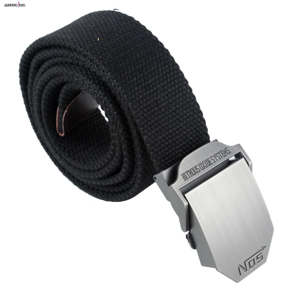 Womdee Men Extra Long Military Style Canvas Web Belt with Buckle(China (Mainland))