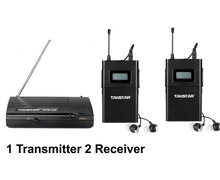Original NEW Wpm-200 Wireless Monitor System In-Ear Sterem 1 Transmitter 2 Receivers Stage Wireless Monitor System free shipping(China (Mainland))