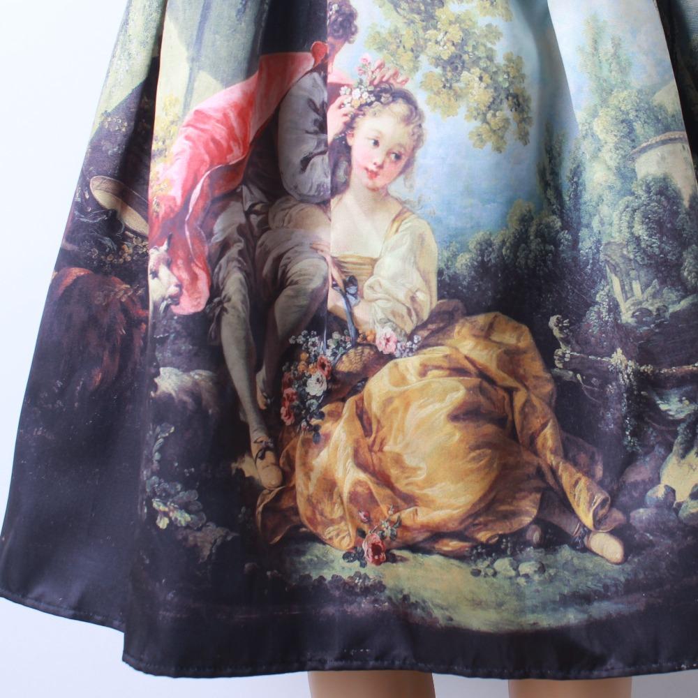 HTB1ho1bQFXXXXXoaXXXq6xXFXXXB - GOKIC 2017 Summer Women Vintage Retro Satin Floral Pleated Skirts Audrey Hepburn Style High Waist A-Line tutu Midi Skirt