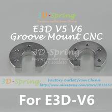 4Pcs/Lot 3D Printer Accessories Hot end Round Fixed Aluminum plate Sandblasting Oxidation Reprap Kossel E3D V5 V6