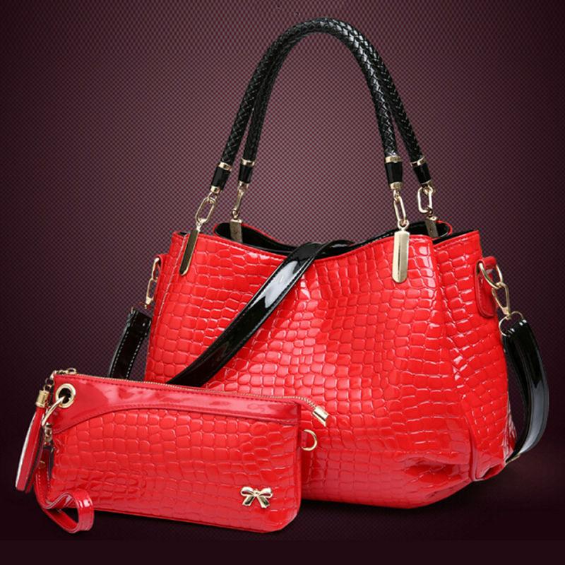 2pcs/set New 2016 purses and handbags PU leather handbag women messenger bags ladies hand bags shoulder crossbody bag