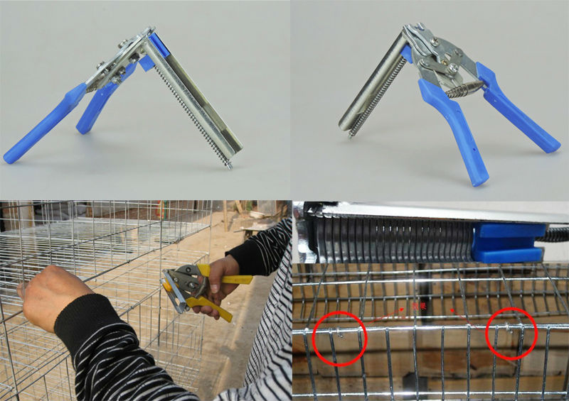 100% New wholesale Metal Clip Pliers repairing rabbit chicken duck bird wire Cages farm animals supplier Free Shipping(China (Mainland))