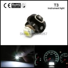 10pcs/lot  T3 LED 3528 SMD Car Cluster Gauges Dashboard White / Red / Blue / Green / Yellow instruments panel Light bulbs