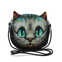 New 2016 Women Fashion Small Shoulder Bag 3D Print Head Animal Cat Dog Horse Tiger Pattern Meow Star Messenger Crossbody Bag