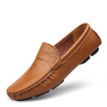 2016 Flats New Arival Authentic Brand Casual Men Genuine Leather loafers Drive Shoes Plus size Euro38-48 Handmade moccasins shoe