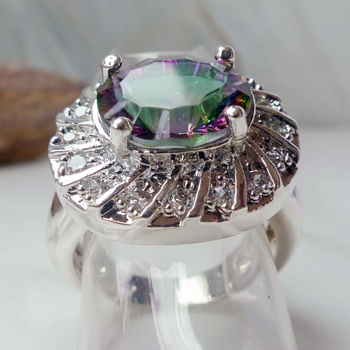 sterling silver wedding bling ring