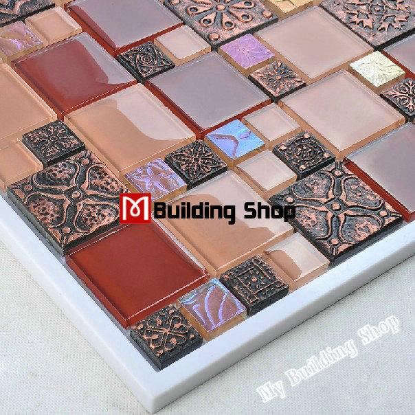 Kitchen glass mosaic wall tile RNMT037 resin mosaic red tile backsplash crystal mosaic tiles free shipping mosaic tiles<br><br>Aliexpress