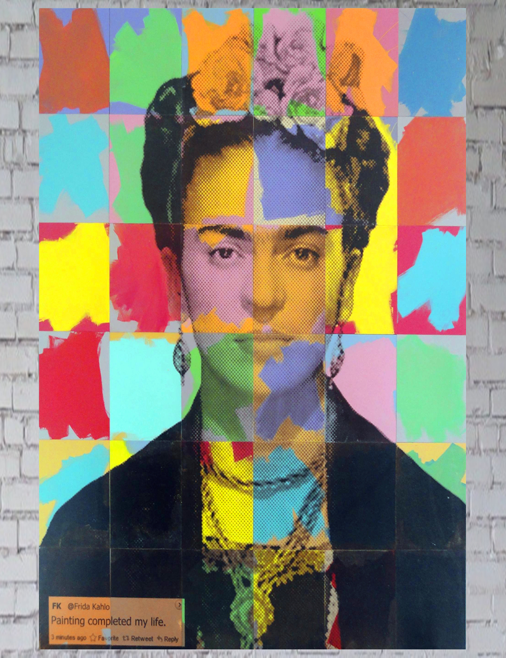 High Quality Frida Kahlo Colors Modern Abstract Oil Painting on Canvas Art 4 Sizes Home Decoration Classic Posters and Prints(China (Mainland))