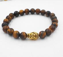 Buy Buddha beads Bracelets Bangles Natural Stone Charm Bracelets Women Men Jewelry 2017 lava for $2.73 in AliExpress store