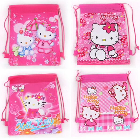 2015 new hello kitty backpack school bags for girls cartoon children backpacks mochila infantil escolar bag for kids &88281(China (Mainland))