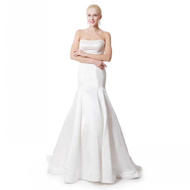 Famous brand mermaid wedding dress corset bodice backless for Strapless backless wedding dress