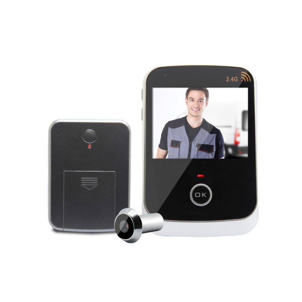 Newest Arrival Fashion Metal Door Spy Peephole Camera 300M wireless Camera Eye Doors With 2.4Ghz Wireless Radio Technology<br><br>Aliexpress
