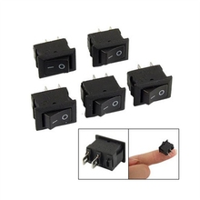 5 x Rocker Switch  AC 250V 3A 2 Pin ON/OFF I/O SPST Snap in Mini Boat