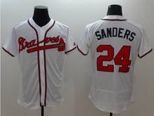 top quality jersey 100% Stitched 24 Deion Sanders Flexbase baseball men jersey Color white red gray blue(China (Mainland))