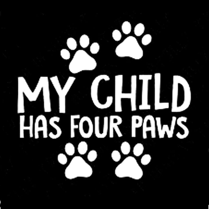 """My Kids Have Paws 8/"""" Dog Cat Car Truck Window Vinyl Decal Sticker 12 COLORS"""