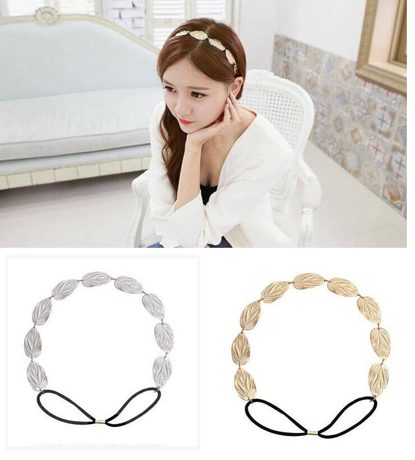 Chic Elegant Women Girls Retro Hollow Leaf Elastic Hair Band Headband Vintage Hairs Accessories Wholesale(China (Mainland))