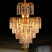 4pcs New Arrival Luxury Crystal chandelier lamp with a small crystals E14 chandelier Light  For Living / dining/bedroom(China (Mainland))