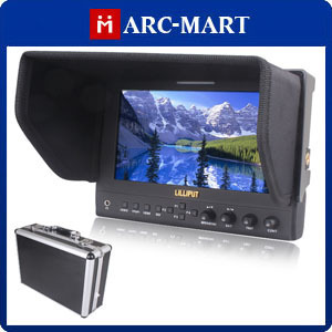 """2014 NEW! Lilliput 7"""" 663/S LED Monitor 3G-SDI IPS HDMI in&out 1080P Peaking with Suitcase DHL Shipping#CP041"""