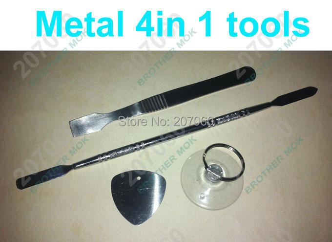 4 in 1 Metal Opening Tools Kit Pry Repair Tool For iPhone iPad Samsung Tablet PC (Pry Tool+Scraper+Pick+Vacuum Cup)(China (Mainland))