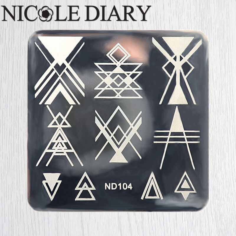 NICOLE DIARY Nail Art Stamping Image Plates Line Patterns Stainless Steel High Quality DIY Stamping Template 26245(China (Mainland))