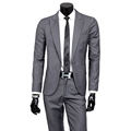 2016 fashion male quality slim fit cotton suit suits Male high quality wedding the groom dress