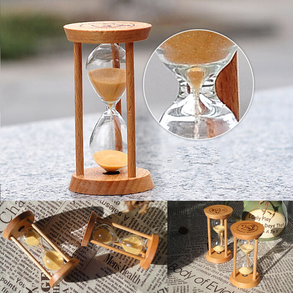 3 Minutes Retro Wood Frame Glass Sand Sandglass Hourglass Timer Clock Time Decoration Gift For Tea