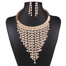 Women Fashion Gold Color Filled Jewelry Sets Austrian Crystal Pendant Wedding Jewelry Sets N3589(China (Mainland))