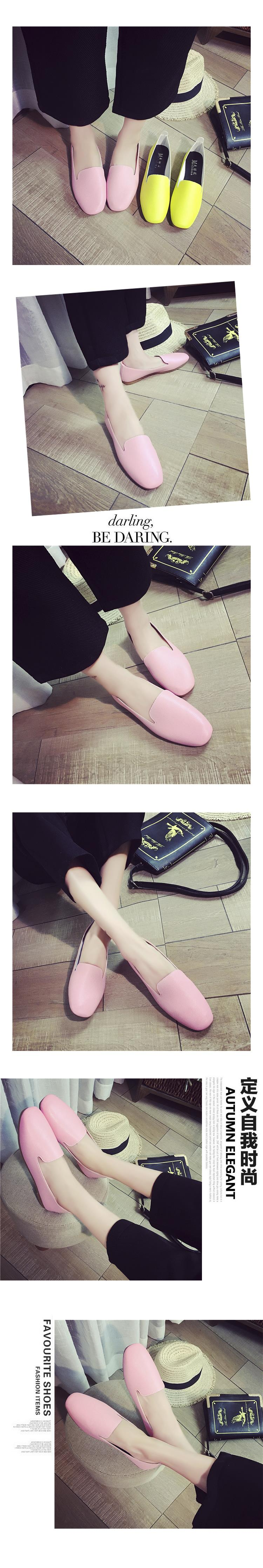 Free Shipping 2016 New Fashion Square Head Comfortable Flat Shoes Shallow Mouth Suede Casual Shoes A Pedal Lazy Women Shoes