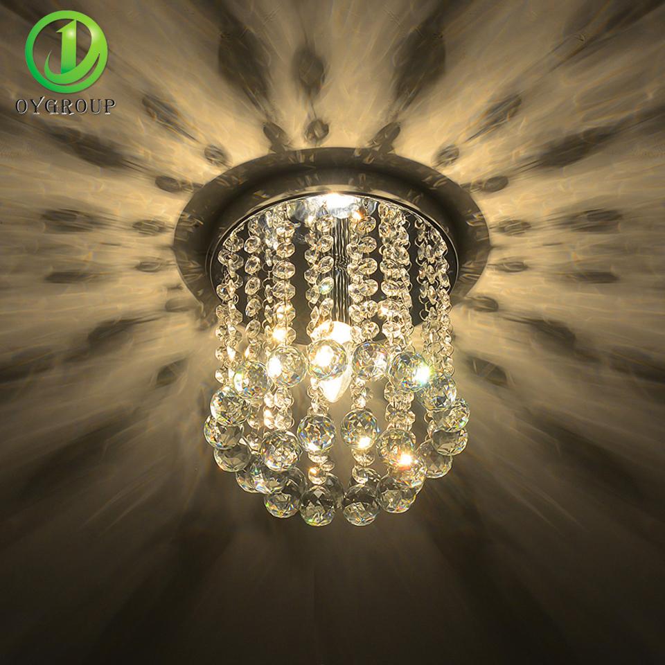 Home Decoration LED Crystal Ceiling Lights Mini Modern Rain Drop Lighting Crystal Ball Fixture Pendant Ceiling Lamps(China (Mainland))